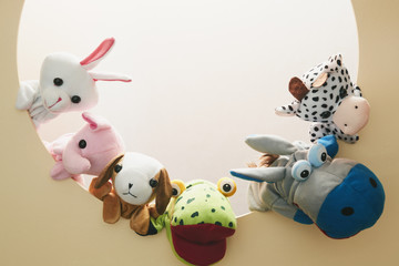 Circle animal puppet doll close friends BFF mouse Giraffe Panda