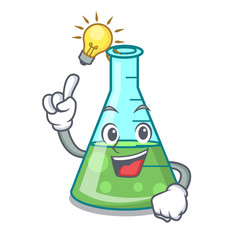 Have an idea science beaker mascot cartoon