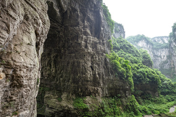 Wulong natural bridge park in chongqing china