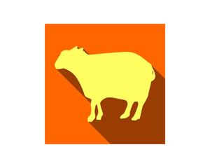 goat silhouette fauna animal safari image vector icon logo