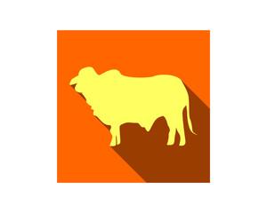 cow cattle silhouette fauna animal safari image vector icon logo