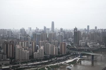 skyline of the chongqing china