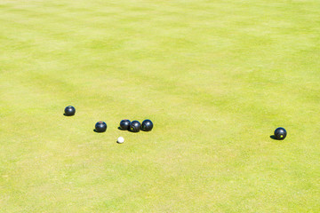 Bowling club  Greate Yarmouth, England. Bowls Tournaments in Greater Yarmouth.The bowling green.