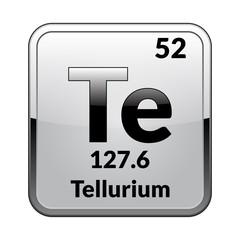 The periodic table element Tellurium.Vector.