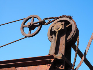 Detail of closing mechanism of old dike