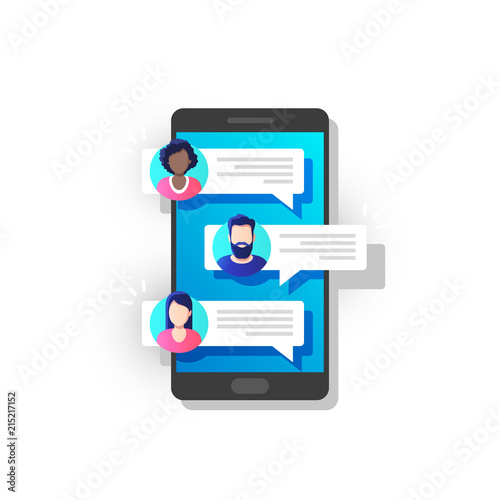 Communication, dialog, conversation on an online forum and