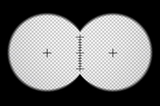 Binocular frame with scale, vector design