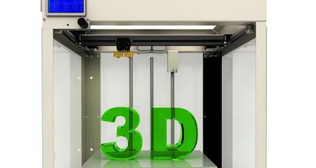 Stampa 3d, stampante, prototipazione rapida, tecnologia, illustrazione 3d