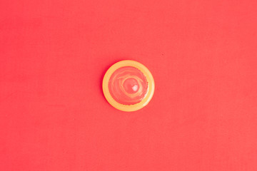 condom in colorful background