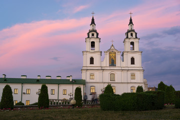 Orthodox Cathedral of the Holy Spirit at sunset, Minsk, Belarus
