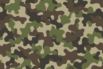 Camouflage seamless pattern. Trendy style camo, repeat print. Vector illustration.