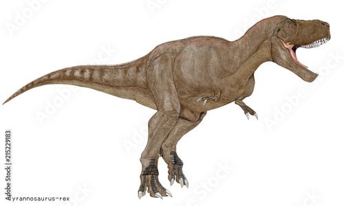 ティラノサウルスレックス白亜紀の代表的肉食恐竜のイラスト画像