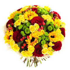 different flower mix bouquet