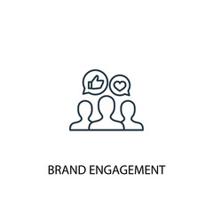 Brand engagement line icon. Simple element illustration