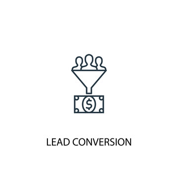 Lead conversion line icon. Simple element illustration