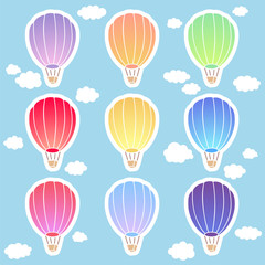Air balloon sticker set