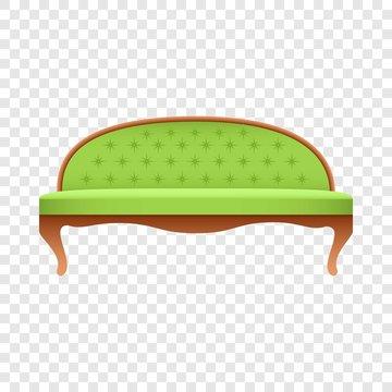 Luxury lime sofa mockup. Realistic illustration of luxury lime sofa vector mockup for on transparent background