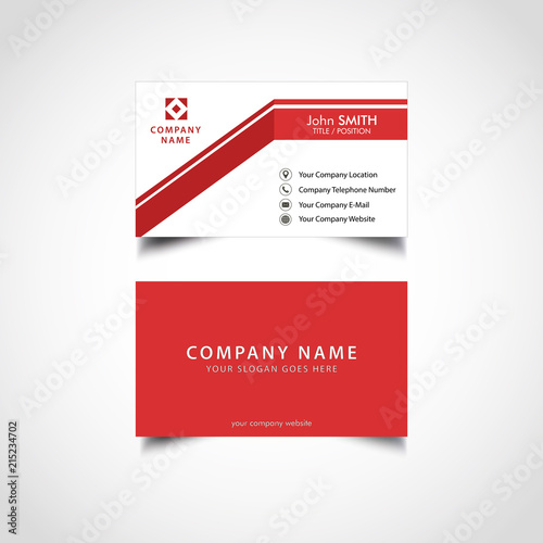 Simple red business card template vector illustration eps file simple red business card template vector illustration eps file wajeb Images
