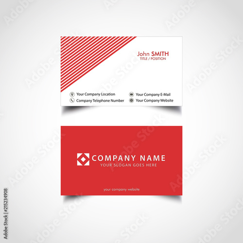 Simple red business card template vector illustration eps file simple red business card template vector illustration eps file flashek Choice Image