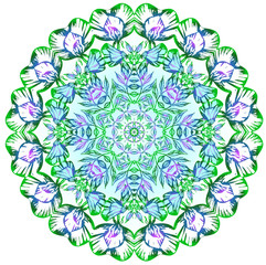Mandala. Sweet pea. Beautiful vintage round pattern. Decorative retro banner isolated. Invitation, t-shirt print,scrapbooking,wedding card. Tattoo element. Coloring book