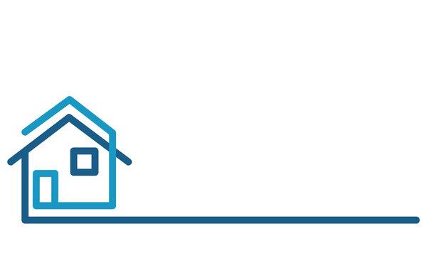 Real Estate Logo, house on white, stock vector illustration