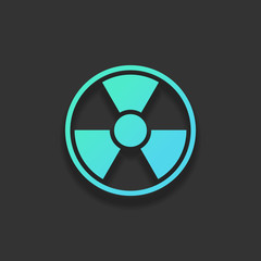 hazard, radiation. simple silhouette. Colorful logo concept with