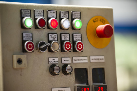 Control panel in factory