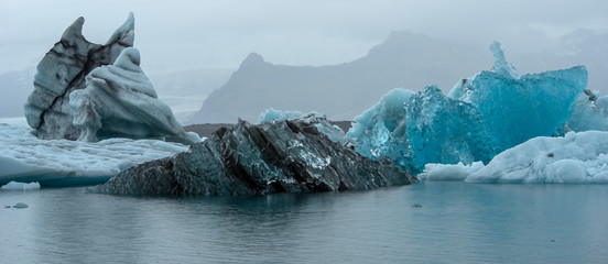 Jokulsarlon glacier lagoon, south of Iceland