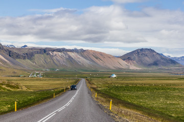 Amazing Iceland. Travel, have fun, enjoy, explore, discover. Road number one leads around the whole island and is beautiful in any weather. Beautiful landscape all around. Adventure awaits everywhere.