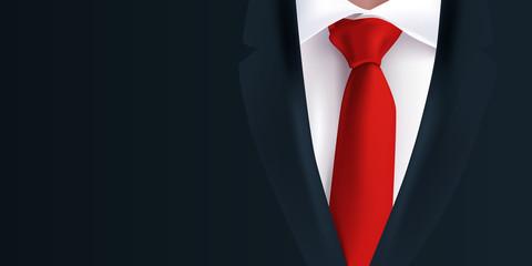 costume - homme - cravate rouge - veste noire - fond - arrière plan - mode, présentation, business