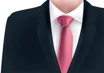 costume - homme - cravate rose - veste noire - fond -mode - business - présentation