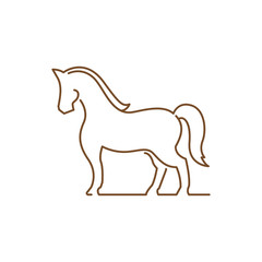 Cool Horse Symbol in Elegant Line Art