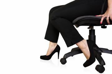 business donna elegante seduta