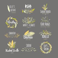 Feminine badges.