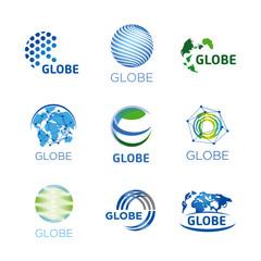 logos, globe, global