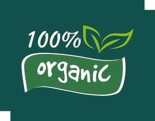set of organic food logo