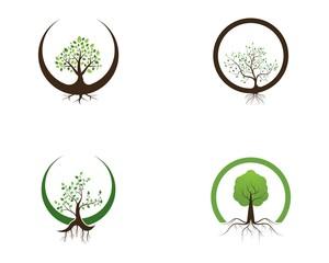 Nature tree icon logo design vector illustration