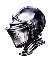 Ordinary shiny knight's helmet