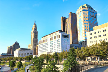 Columbus, Ohio is located along the Scioto River.  The Scioto Mile park offers lifestyle activities for residents and visitors and is a popular downtown tourism attraction.