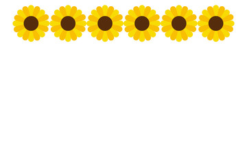 Yellow and Orange Sunflower Header