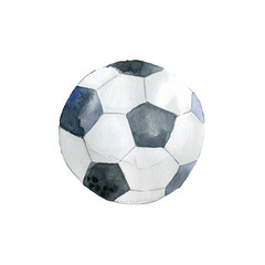 The football ball on white background.