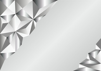 Background abstraction in the form of triangles-silver
