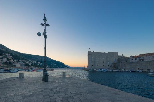 Dubrovnik Marina at Sunrise, Croatia
