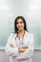 Smiling woman medic portrait