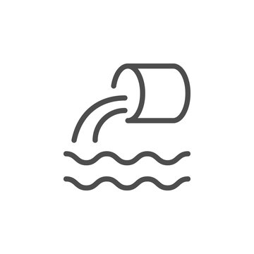 Wastewater line icon
