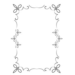 Decorative vertical frame with curls and scroll
