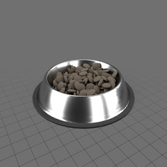 Pet bowl with food