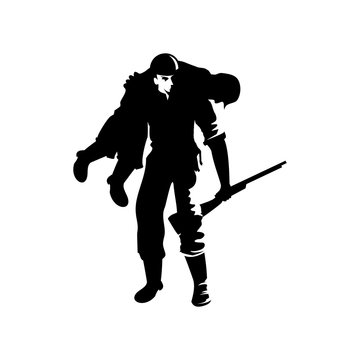 Wounded Soldier vector