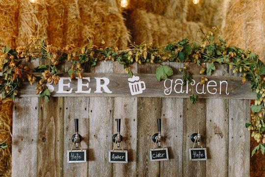 Beer Garden at Wedding