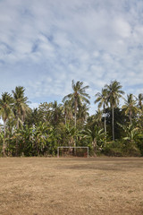 Football goal in the jungle